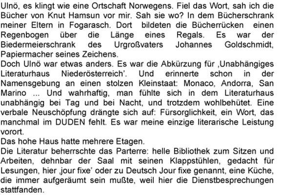 Text, Eginald Schlattner 2007