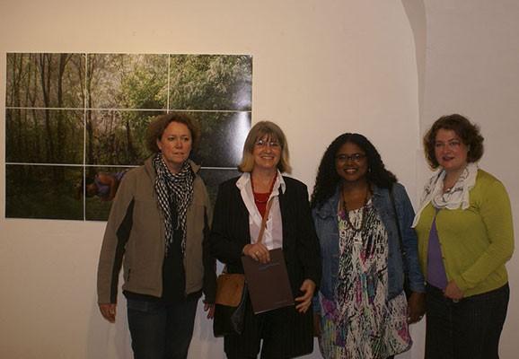 Ausstellungseröffnung, Glynnis Reed, kunstraumarcade 2011