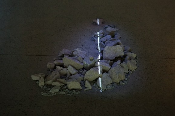 Scaffold (32 NW 5th Avenue), Andy Graydon, video-projected light installation 2008