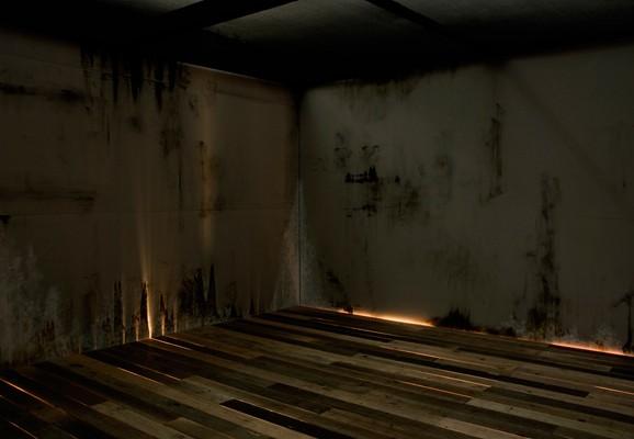 Fathom, Joshua Churchill 2008, site specific mixed media sound and light installation