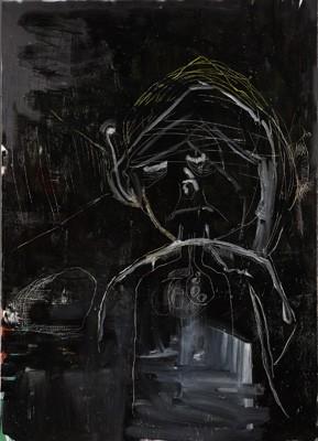 O.T., Alice Eikelpoth, 2014, Öl, Lack auf Leinwand