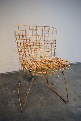 Bertoia, Dan Price, Birkenholz gebogen, Schnüre, 2016
