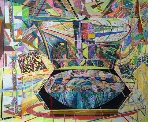 When was the future, when will be the past, Emanuela Harris-Sintamarian, 2015,  Gouache auf Papier, 178 cm x 208 cm