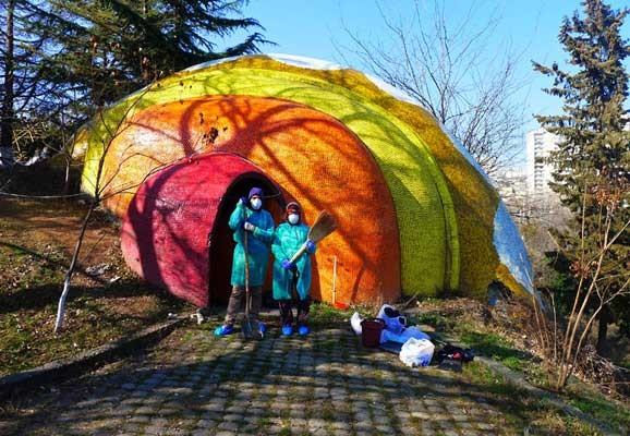 Tbilisi, Foto: Andrea Kalinova 2015, Site Specific Projekt für den Kinderspielplatz Mziuri, Georgien