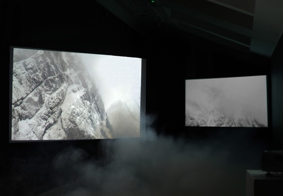 A Spectacular Form of Amnesia , Amanda Rice 2013, video installation with fog machine