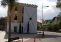 Copyright Martin Vongrej, installation view outside gallery, 2010