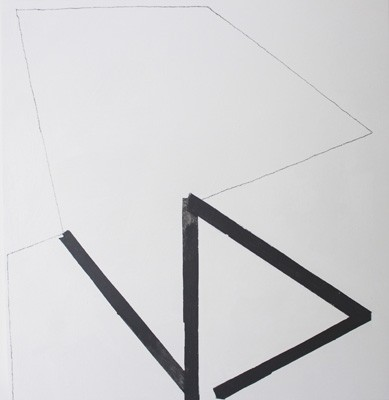 Open Space, 2013, Marie Hanlon, acrylic and pencil on panel