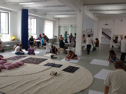 Batikworkshop at the Atelier of the Kunstmeile Krems , Photo: Akintunde Sangosakin Ajala