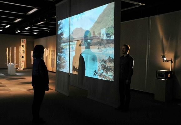 WE, Tamás Szvet, video installation, Mino-Washi Museum, Mino, 2014