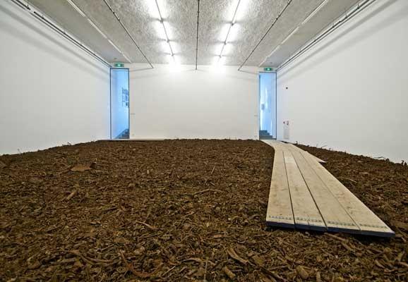 The Path (Calea) / Rust Ingots (Lingouri de rugina), Mona Vatamanu, Florin Tudor, installation view, 2009, BAK