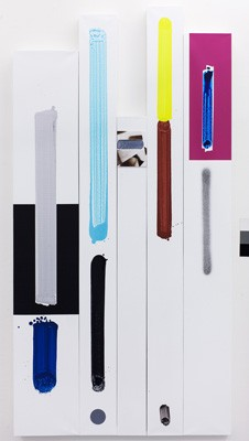 The cycle David Hanvald and typography , Photo: Michal Ureþ, acrylic on canvas, 2013
