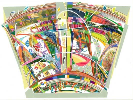 "Juggalos rejoice, Emanuela Harris-Sintamarian, 2015,  gouache on paper, 22"" x 30"""