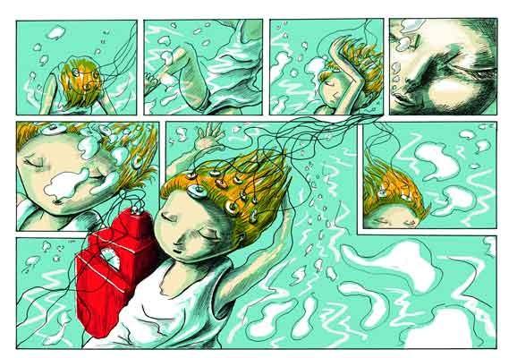 Traumfabrik, Tina Brenneisen, graphic novel, publisher: Parallelallee Verlag, 2014